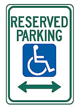 12″ x 18″ Parking and Handicap Signs