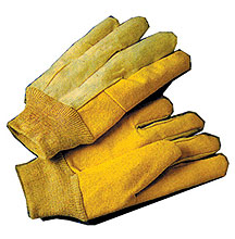 Cotton Gloves With Vinyl Palm